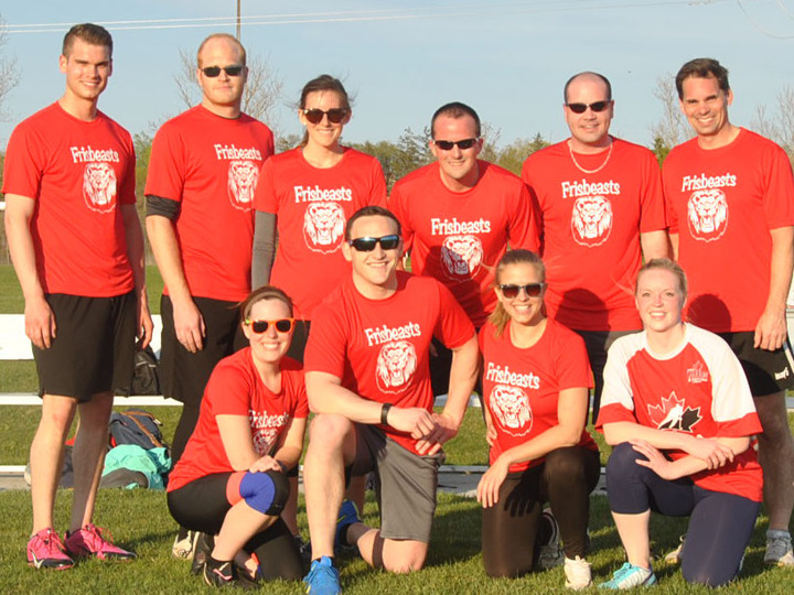 Frisbeasts: Ulitmate Frisbee Team T-Shirt Photo