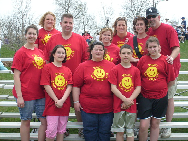 Kellye's Tumor Humor Crew...Path To Progress 5 K Run Walk T-Shirt Photo