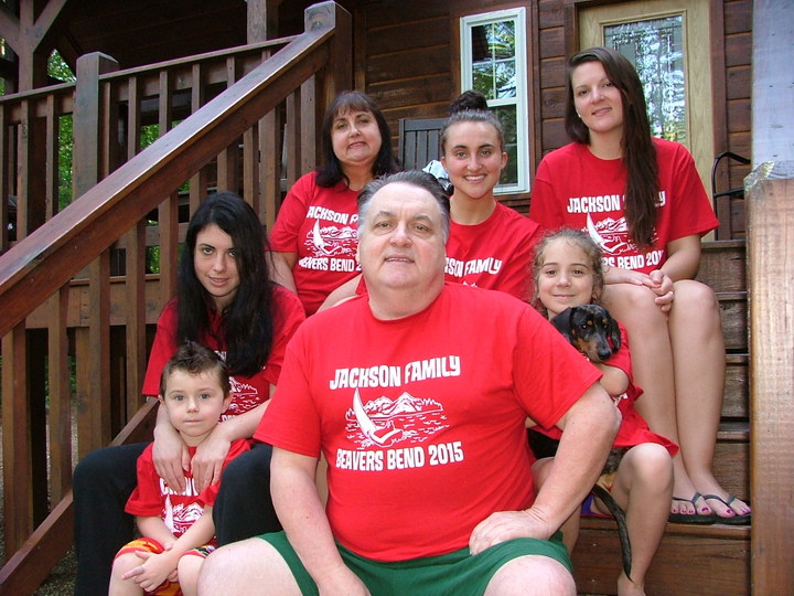 The Jacksons At Beavers Bend, Oklahoma T-Shirt Photo