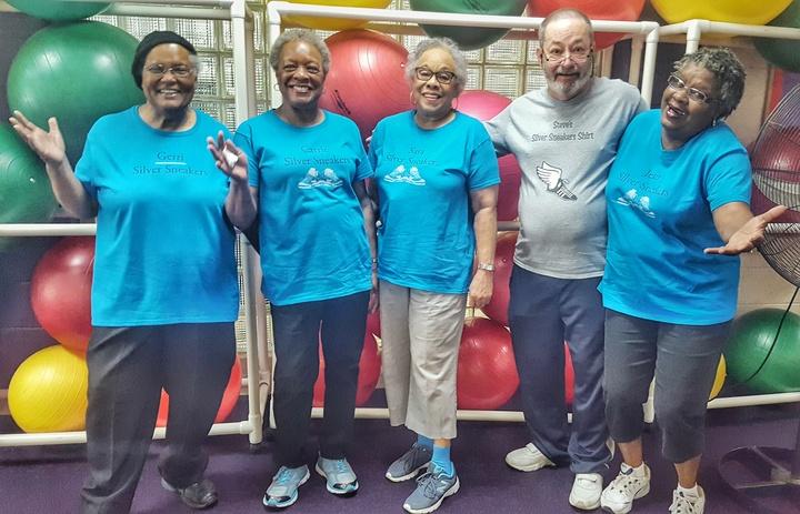Senior Fitness Friends T-Shirt Photo