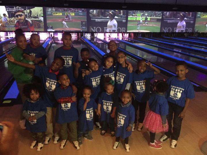 Mekhi' Birthday Bowling Bash T-Shirt Photo