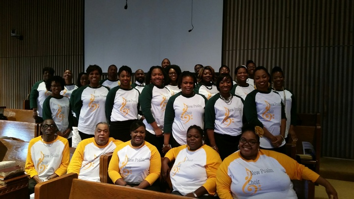 New Psalm Young Adult Choir Of Antioch Missionary Baptist Church In San Antonio, Tx  T-Shirt Photo