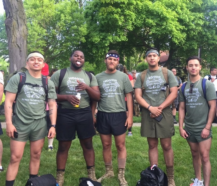 2016 Honor The Fallen Ruck March Chicago T-Shirt Photo