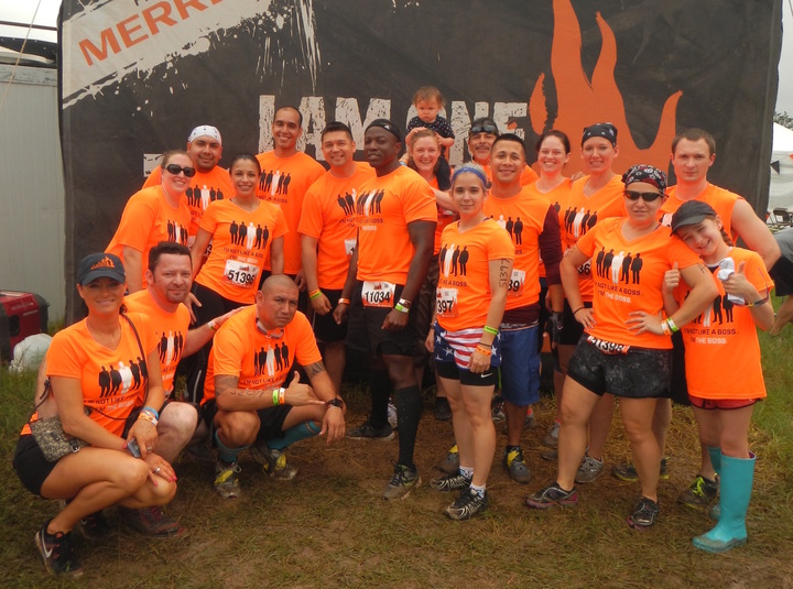 """Pre Race Pic Of Team """"I Am The Boss """" T-Shirt Photo"""
