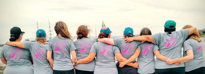 Alcatraz Race In Our New Team Shirts! T-Shirt Photo