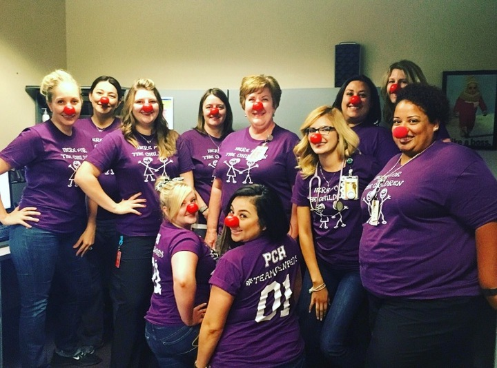 Red Nose Day Fun At Phoenix Children's Hospital!! T-Shirt Photo