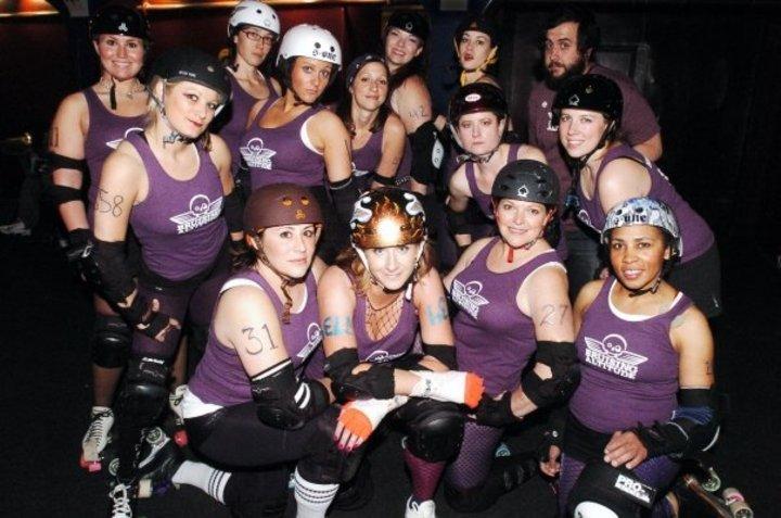Denver Roller Dolls   Brusing Altitude   Roller Derby Team T-Shirt Photo