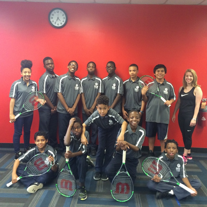 Our Middle School Tennis Team Styling! T-Shirt Photo