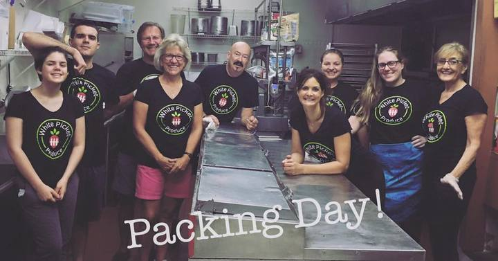 Packing Day At White Picket Produce T-Shirt Photo