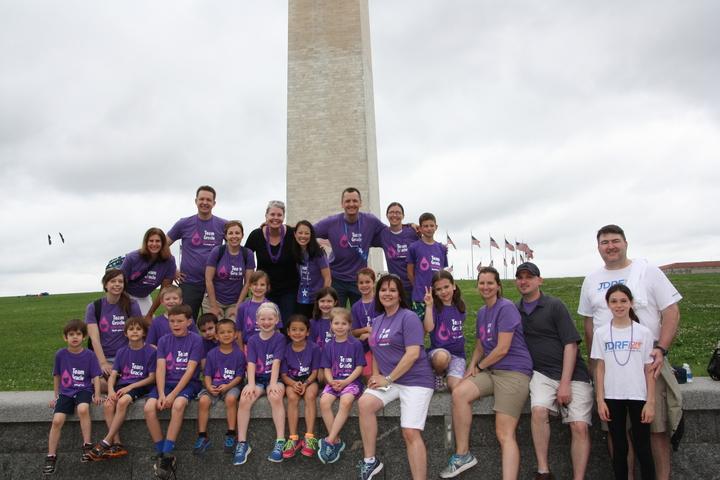 """Team Gracie"" At Jdrf One Walk, Washington, Dc T-Shirt Photo"
