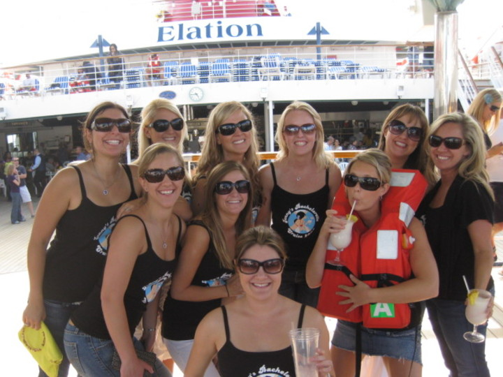 Jenny's Bachelorette Cruise Crew T-Shirt Photo