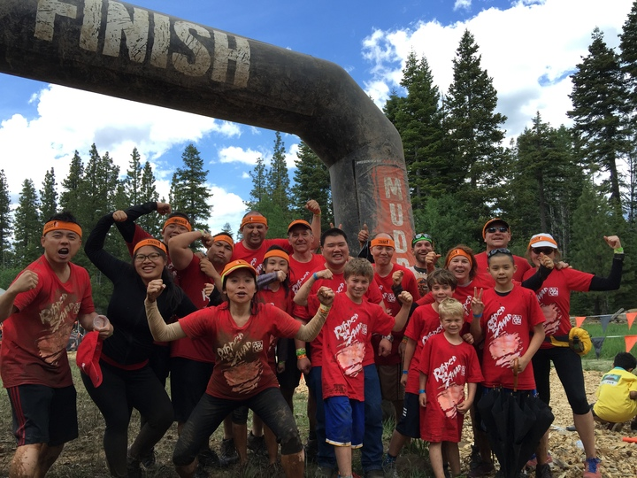 A2 Q2 Ripped Squad Conquers The Mudder! T-Shirt Photo