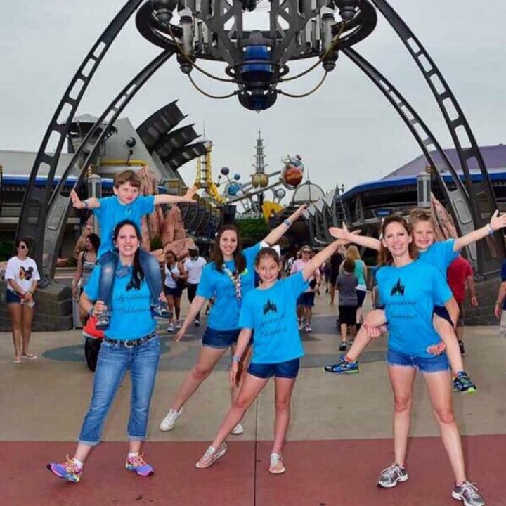 Birthday Celebration At Magic Kingdom T-Shirt Photo