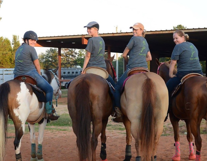 Equestrians At Work! T-Shirt Photo