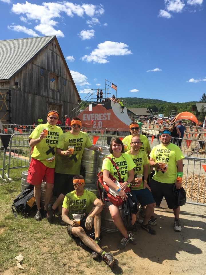 Here For The Beer (Tough Mudder, Mt Snow Vt) T-Shirt Photo