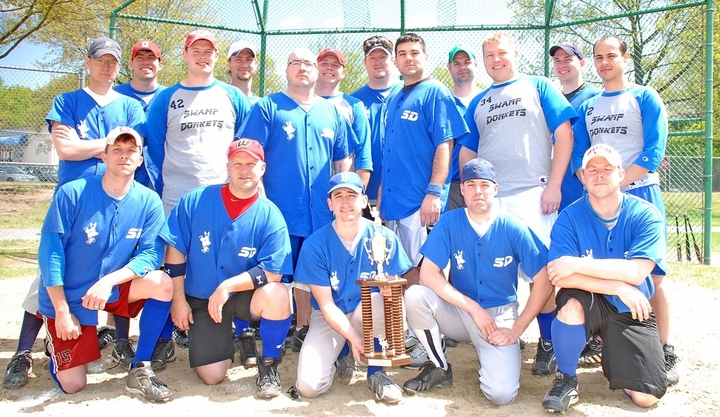 Swamp Donkey Softball Champions T-Shirt Photo