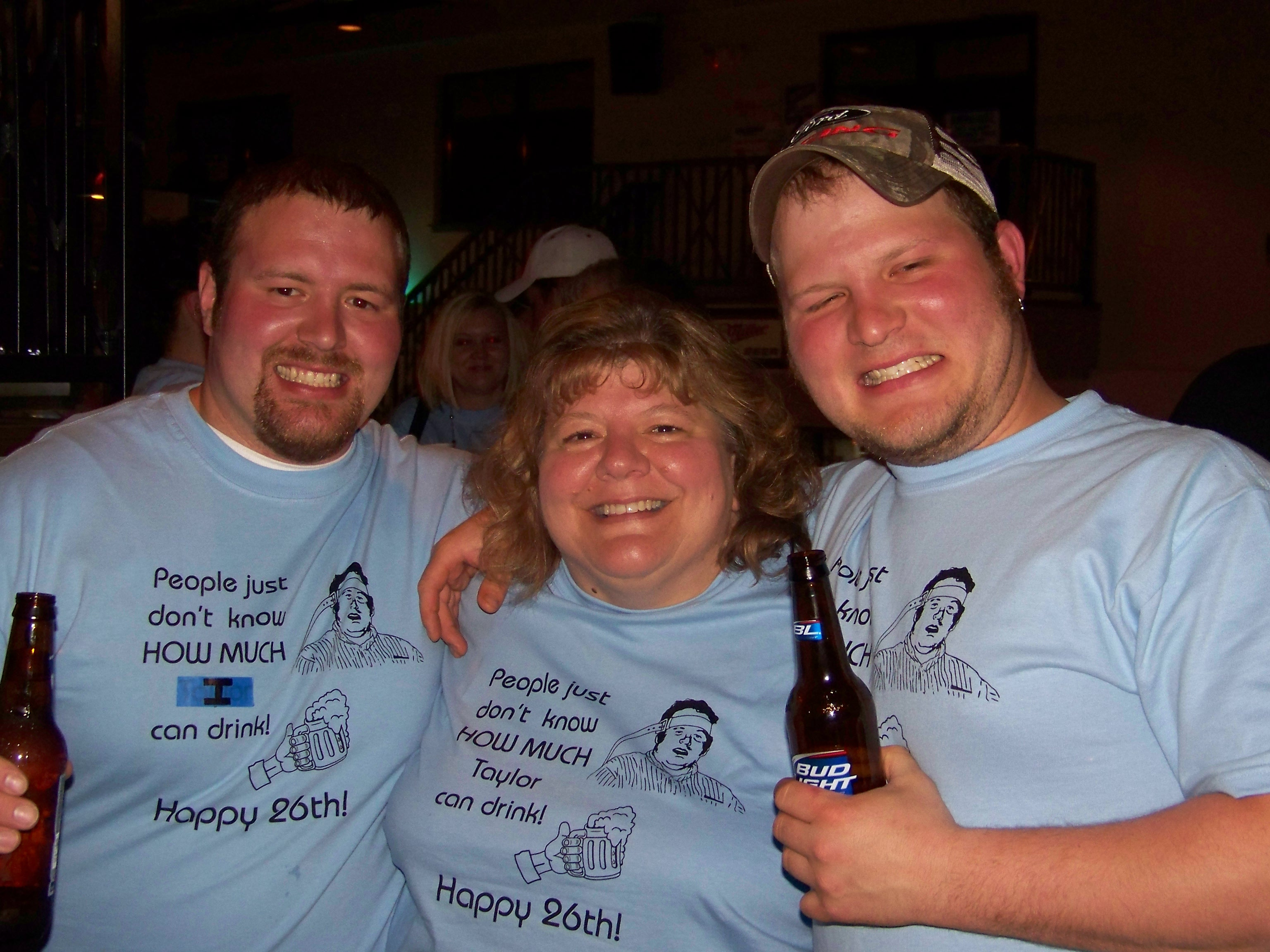 Birthday Boy With His Mom And Brother T Shirt Photo