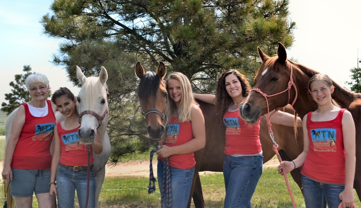 "Camp Kit'n'kaboodle Horsemanship And Art Camp...Here Are Our ""Flying Leaders"" Of 2016! T-Shirt Photo"