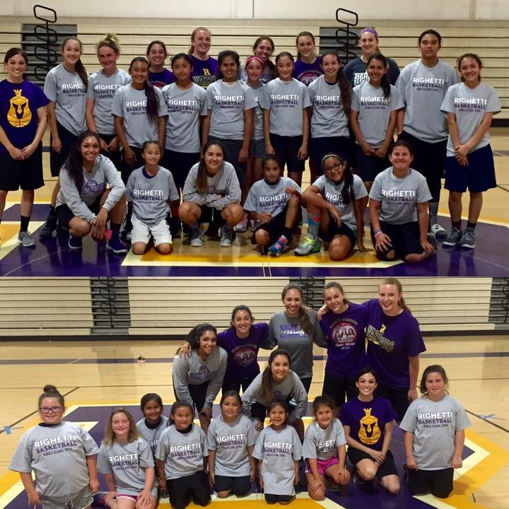 Righetti Girls Basketball Clinic T-Shirt Photo