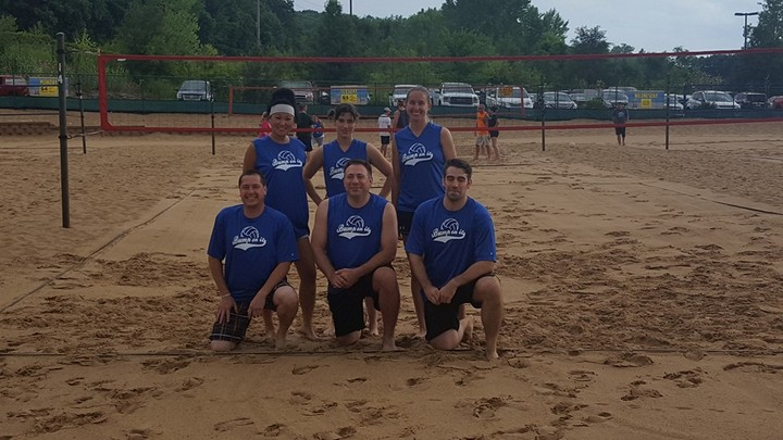 "Sand Volleyball Team ""Bump On It"" T-Shirt Photo"