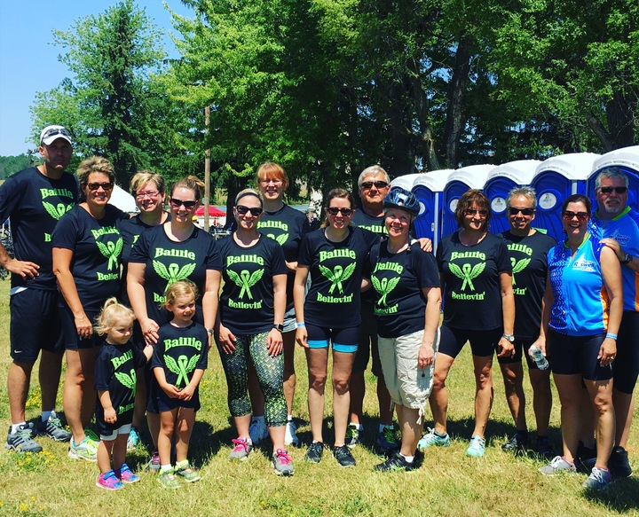 Team Baillie Believin' Ride For Roswell 2016 T-Shirt Photo