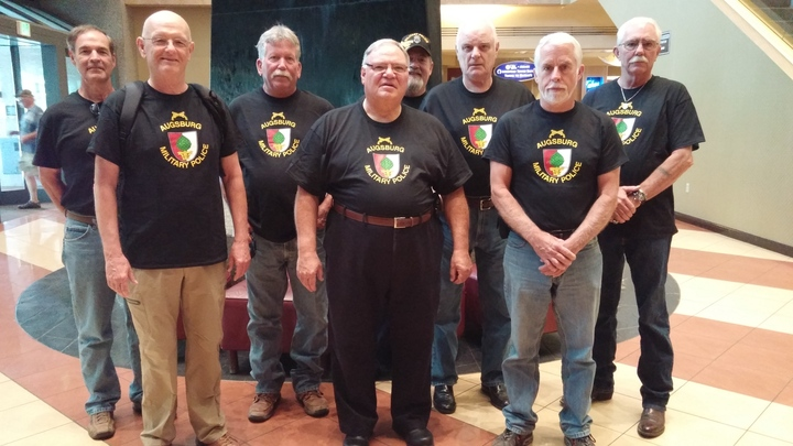 42 Years Later....We Are Still  The Augsburg Military Police T-Shirt Photo