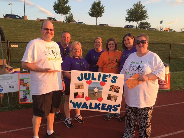 "Julie's ""Walkers""   Relay For Life Team T-Shirt Photo"