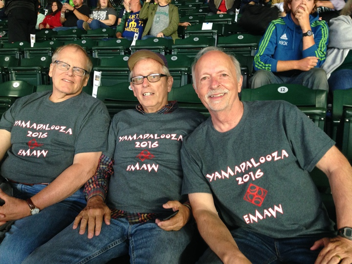K State Wildcats @ Mariners Game (Less The Guy Who Busted His Leg) T-Shirt Photo