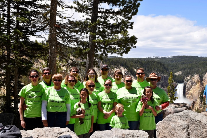 Shea Family At The Grand Canyon Of The Yellowstone River T-Shirt Photo