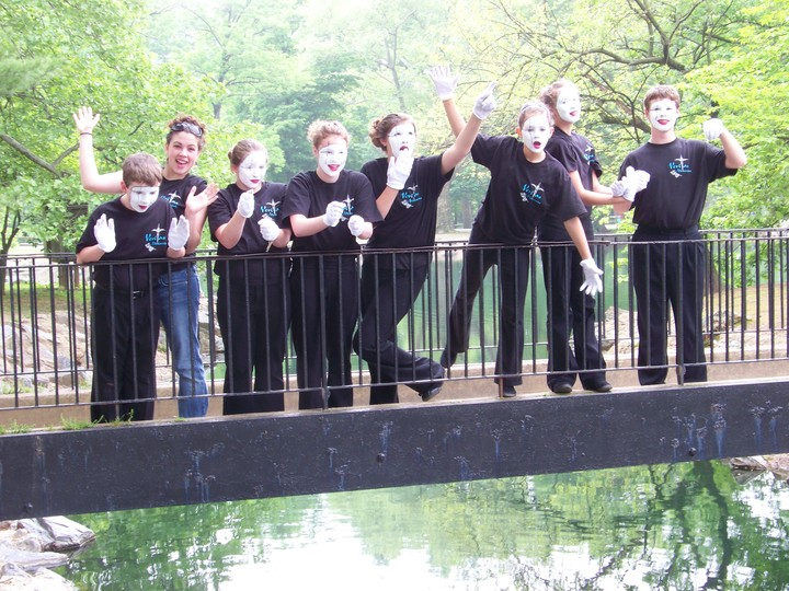 How Many Mimes Does It Take To Cross A Bridge? T-Shirt Photo