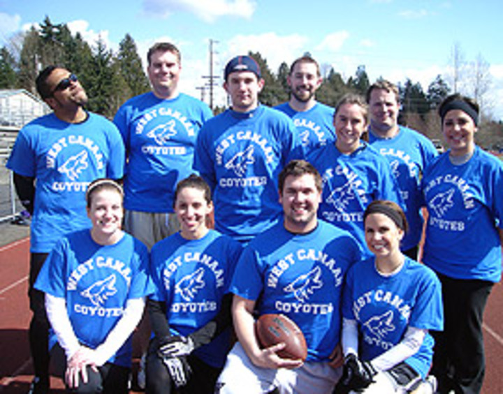 Co Ed Football At Its Finest T-Shirt Photo