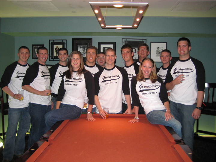 Groomsmen Drinking Team T-Shirt Photo