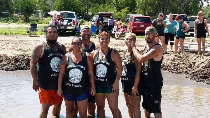 Mud Volleyball T-Shirt Photo