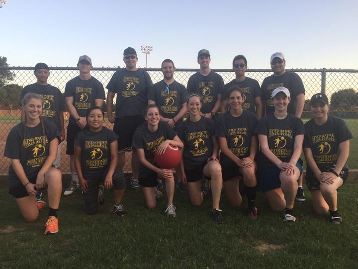 One Kick Wonders   Kickball Team T-Shirt Photo