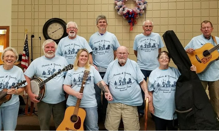 Friends And Family Bluegrass Jam T-Shirt Photo