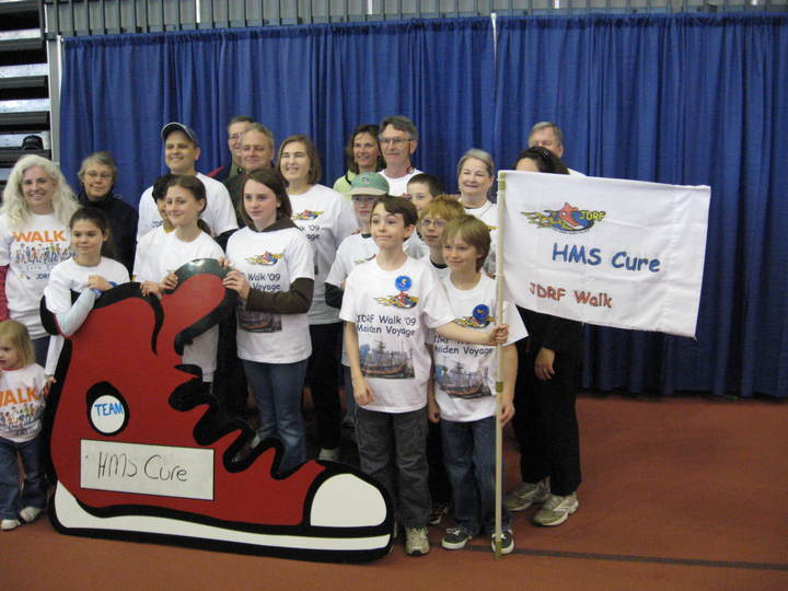 Jdrf Walk For The Cure 2009 Team Hms Cure T-Shirt Photo