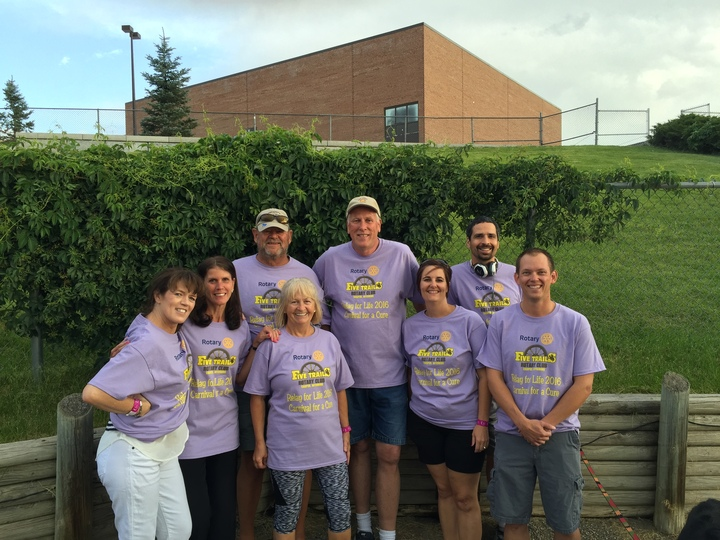 Five Trails Rotary Supports Relay For Life 2016 T-Shirt Photo