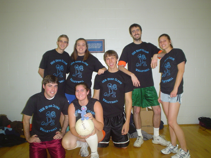 Isr Intramural Volleyball Team, Including Grover Of Course! T-Shirt Photo