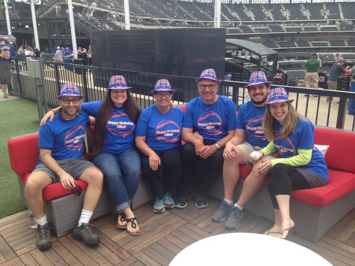 Dads Surprise 65th Lets Go Mets T Shirt Photo