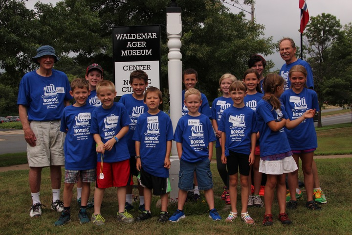 Campers At The Ager Museum T-Shirt Photo