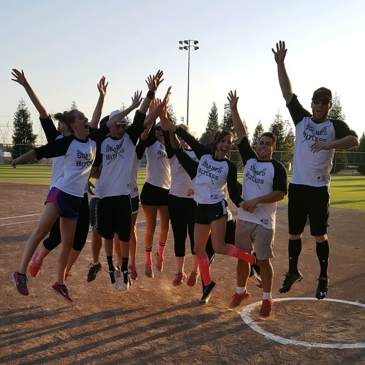 Scared Hitless Softball T-Shirt Photo