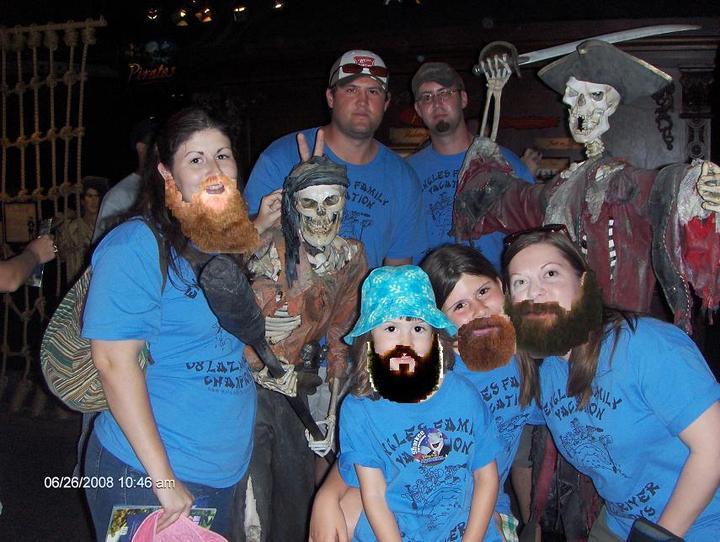Bearded Family Vacation T-Shirt Photo