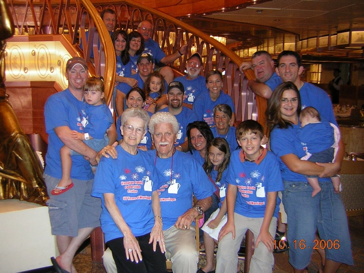 Family Cruise Celebrating 60 Years Of Marriage! T-Shirt Photo