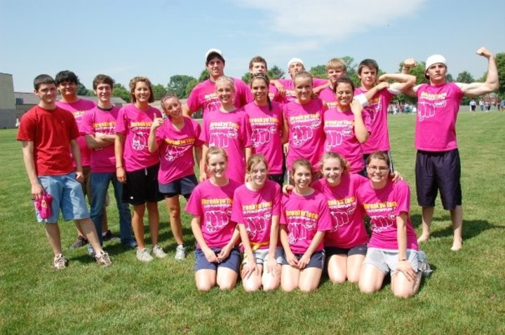 """Ibreakyoface"", The Winning Senior Powderpuff Ladies Slogan T-Shirt Photo"