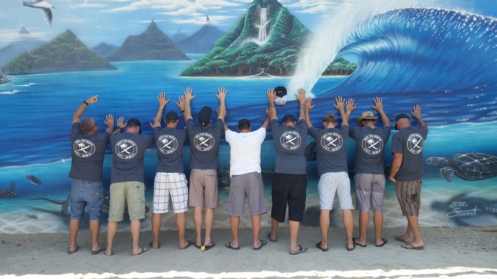 Surf's Up, Hands Up! T-Shirt Photo