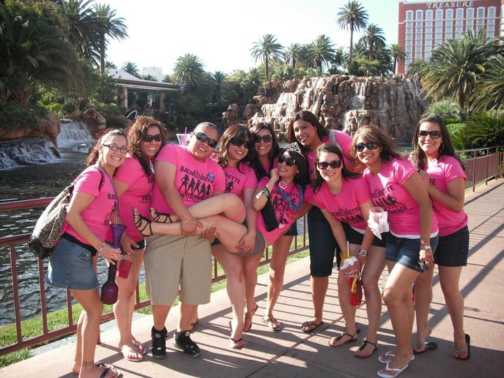 Ale's Bachelorette Entourage In Las Vegas! T-Shirt Photo