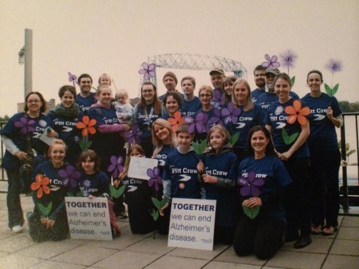 The Pitt Crew  Walk To End Alzheimers T-Shirt Photo