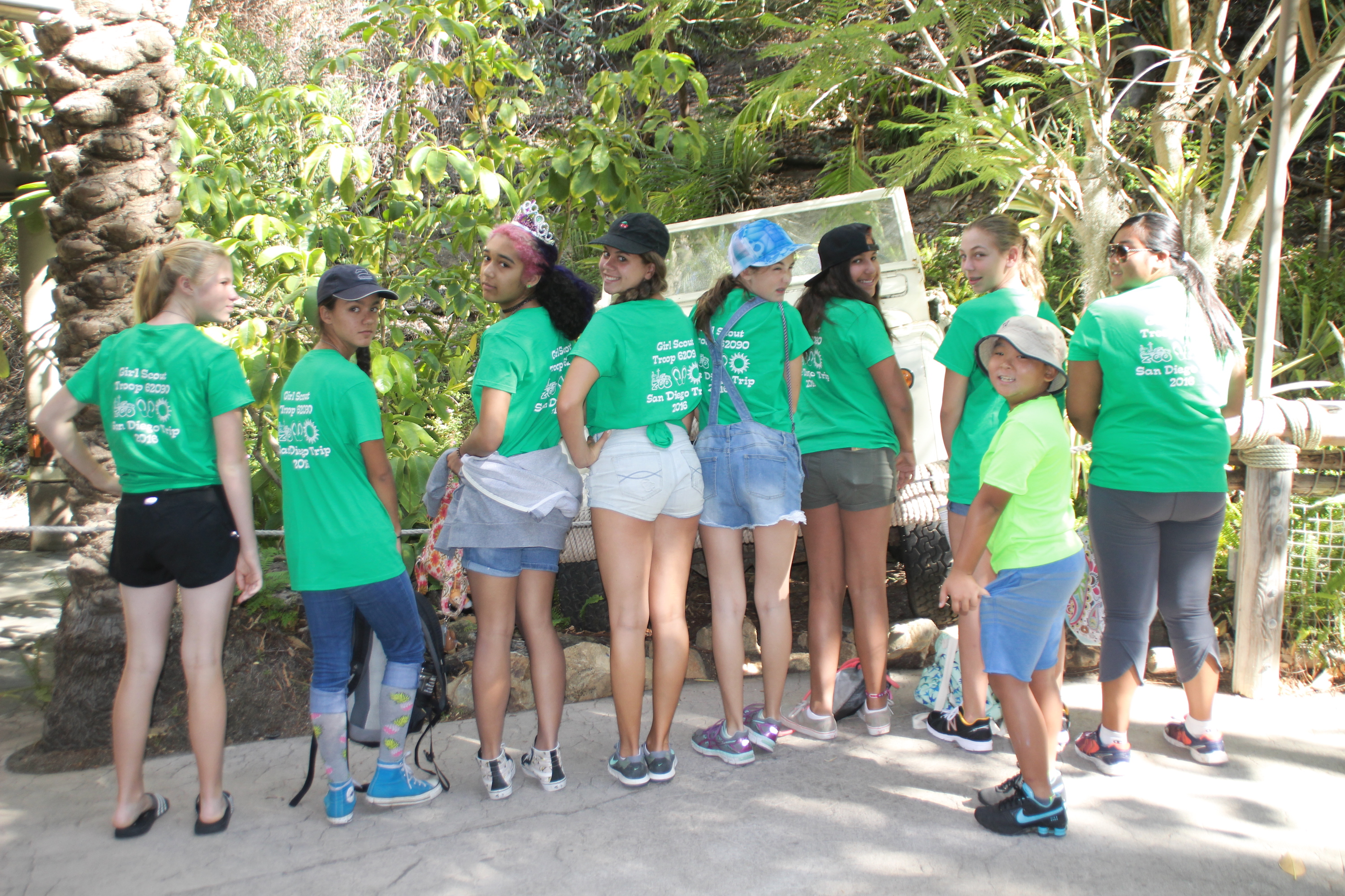 Custom t shirts for girl scout troop 62090 san diego trip for Girl scout troop shirts