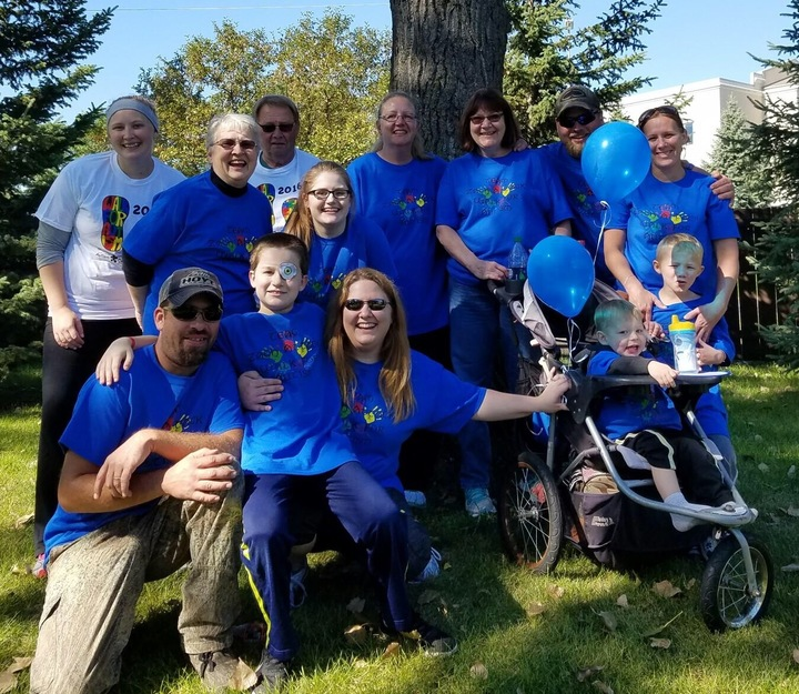 Team Zach Attack Walk For Autism T-Shirt Photo