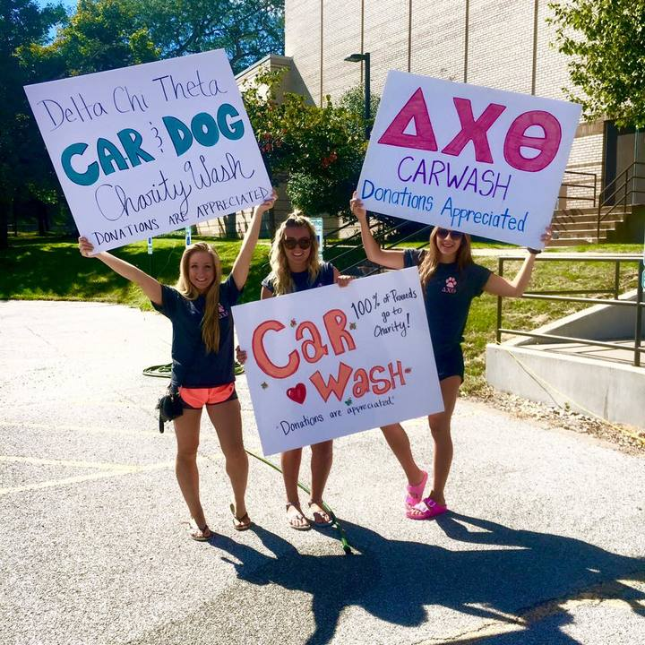 Delta Chi Theta Dog & Car Wash T-Shirt Photo